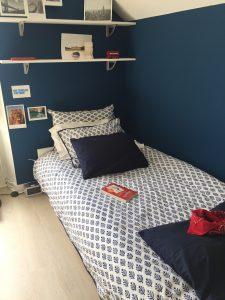 Linge de lit Housse de couette Parure de lit en coton imprimé au block print BOOTI Bleu Royal de VILLA D'ISSI