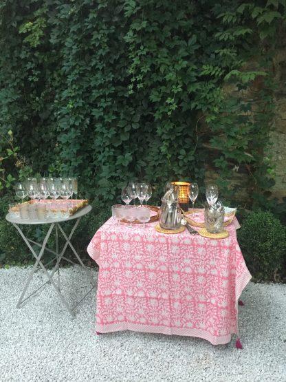 Nappe rose FLORA Rose Gum de VILLA D'ISSI