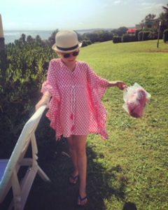 Tunique de plage Caftan pour fille ROSE ECLAT