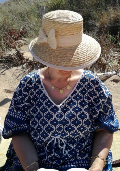 Tunique Caftan LIVIA Bleu Royal de VILLA D'ISSI Tunic Kaftan Cover-up Beachwear LIVIA Royal Blue from VILLA D'ISSI