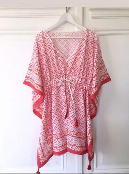 Caftan de plage chic - Robe courte bohème chic - Tunique raffinée EMMA de VILLA D'ISSI