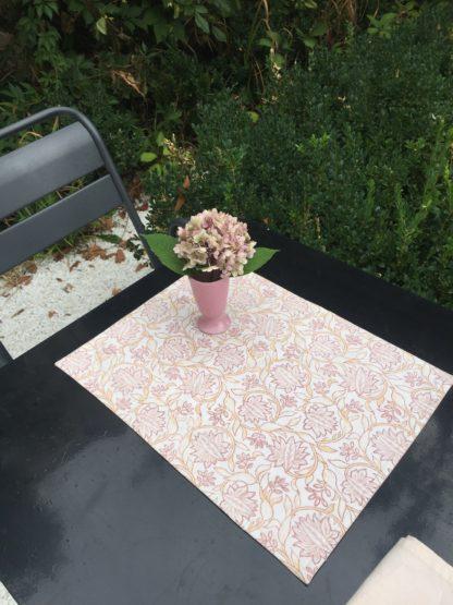 Set de table KIMI rose nude de VILLA D'ISSI