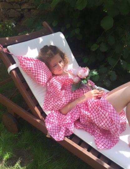 Tunique de plage Caftan pour fille ROSE ECLAT Kaftan tunic beachwer ROSE ECLAT
