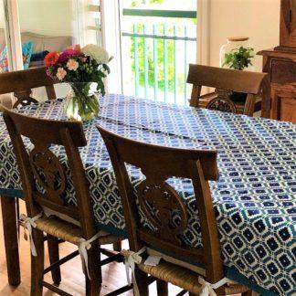 Nappe Linge de Maison Linge de table 150 x 300 cm HAMPTONS de VILLA D'ISSI